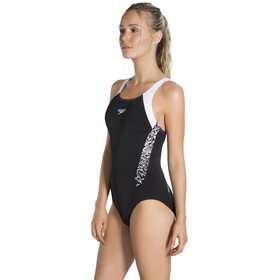 speedo Boom Splice Muscleback Swimsuit Women, black/white